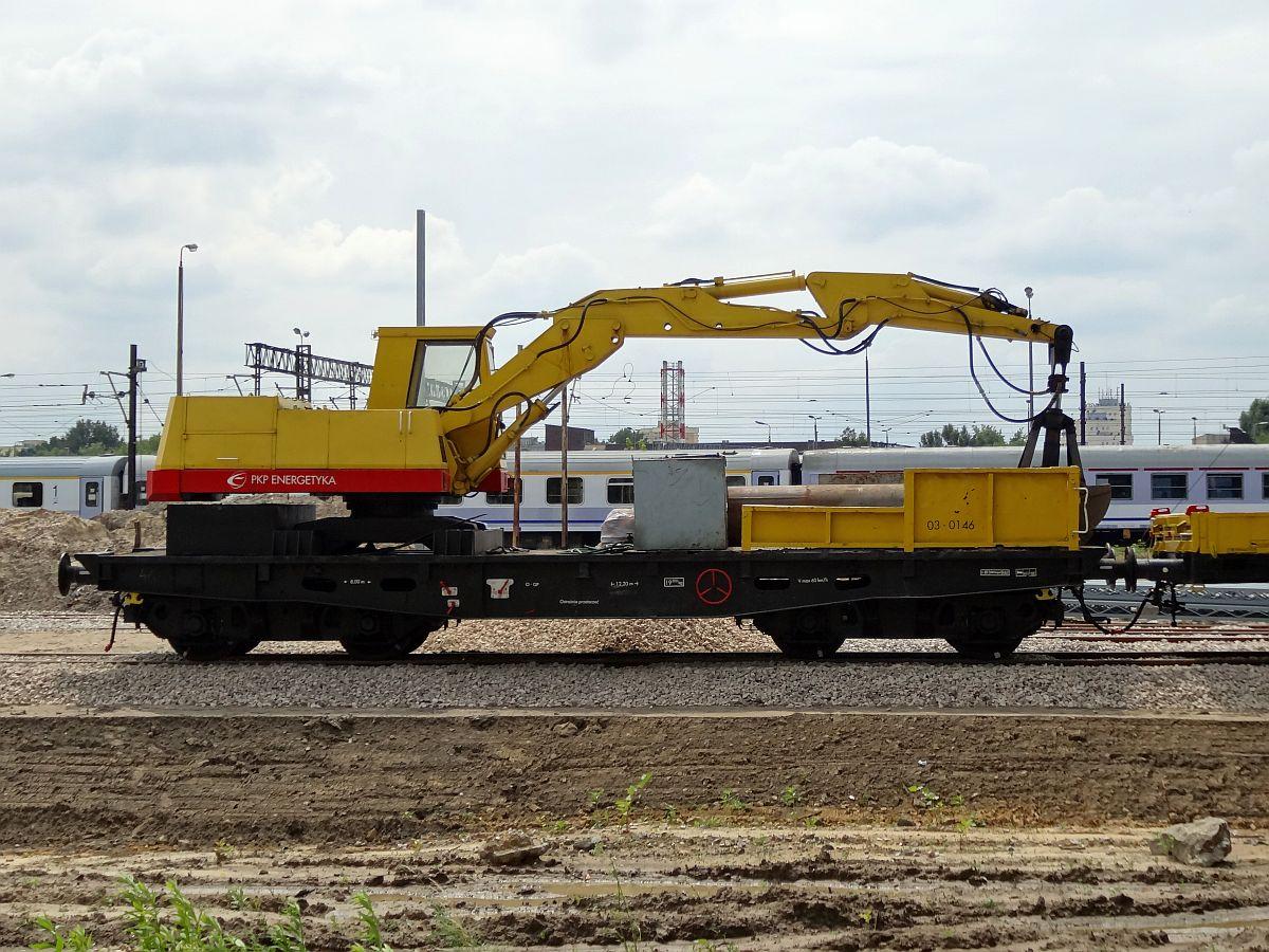 Żuraw kolejowy na bazie koparki K-611 Waryński.jpg