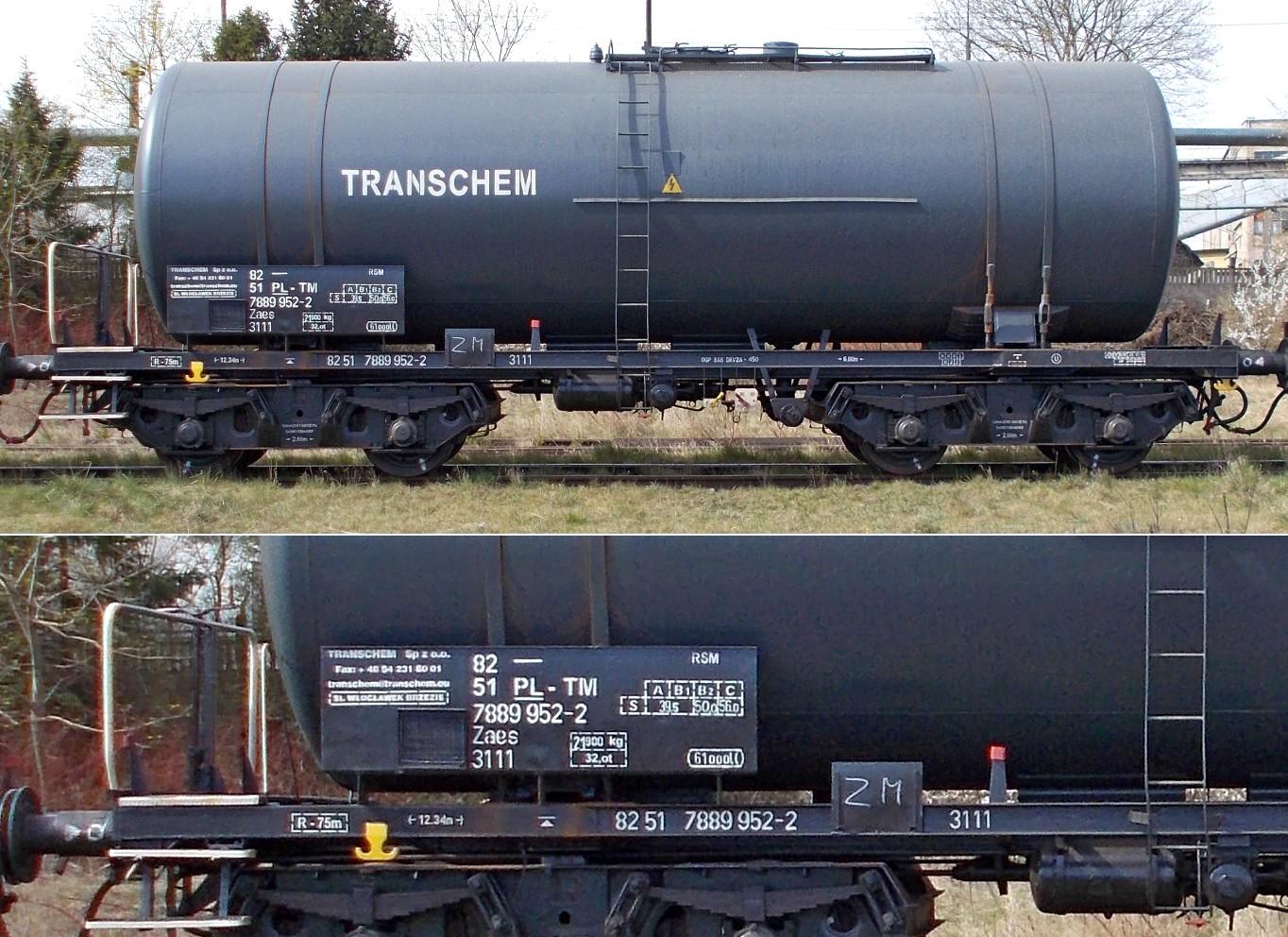 10. Stacja Dobre Miasto. Cysterna do przewozu RSM typu 406R TRANSCHEM (1).jpg