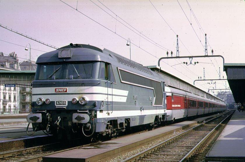 2 - BB 67455 ohne 3. Lampe, TEE Catalan-Talgo, Genève 13.4.1971.jpg