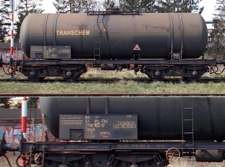 21. Stacja Dobre Miasto. Cysterna do przewozu RSM typu 405RTM TRANSCHEM (5).jpg
