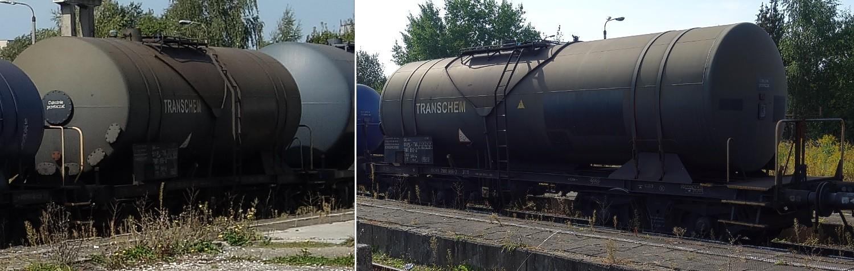 26. Stacja Dobre Miasto. Cysterna do przewozu RSM typu 401Ra TRANSCHEM (1b).jpg