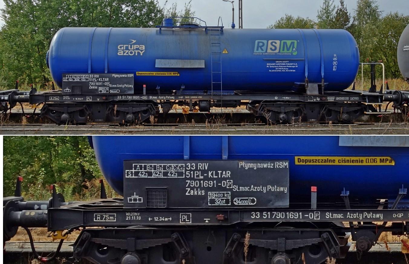 37. Stacja Dobre Miasto. Cysterna do przewozu RSM typu 408R KOLTAR Grupa Azoty (5).jpg