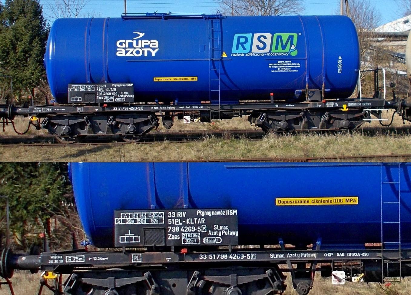 4. Stacja Dobre Miasto. Cysterna do przewozu RSM typu 406R KOLTAR Grupa Azoty (1a).jpg