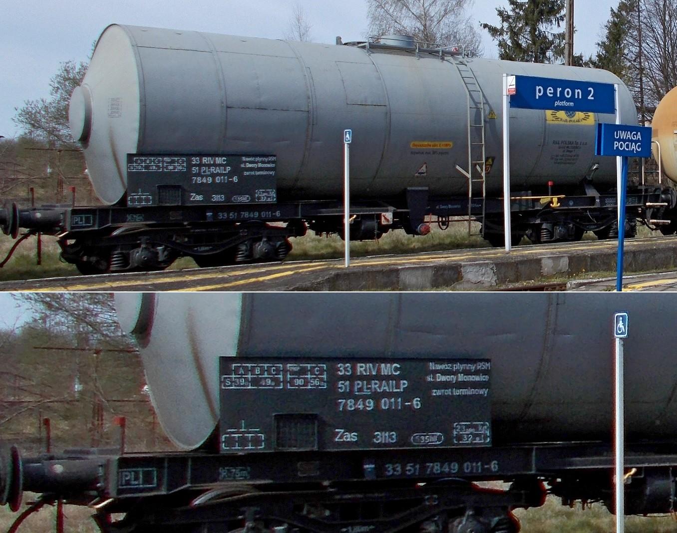 46. Stacja Dobre Miasto. Cysterna do przewozu RSM typu 438Rb RAIL POLSKA (2).jpg