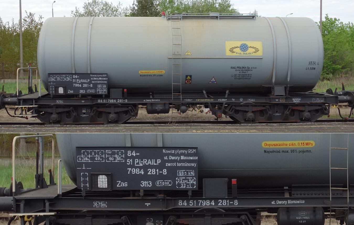 6. Stacja Dobre Miasto. Cysterna do przewozu RSM typu 406R RAIL POLSKA (1).jpg