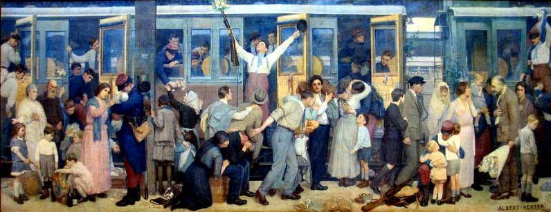 Albert Herter Le départ des poilus à la gare de l'Est.jpg