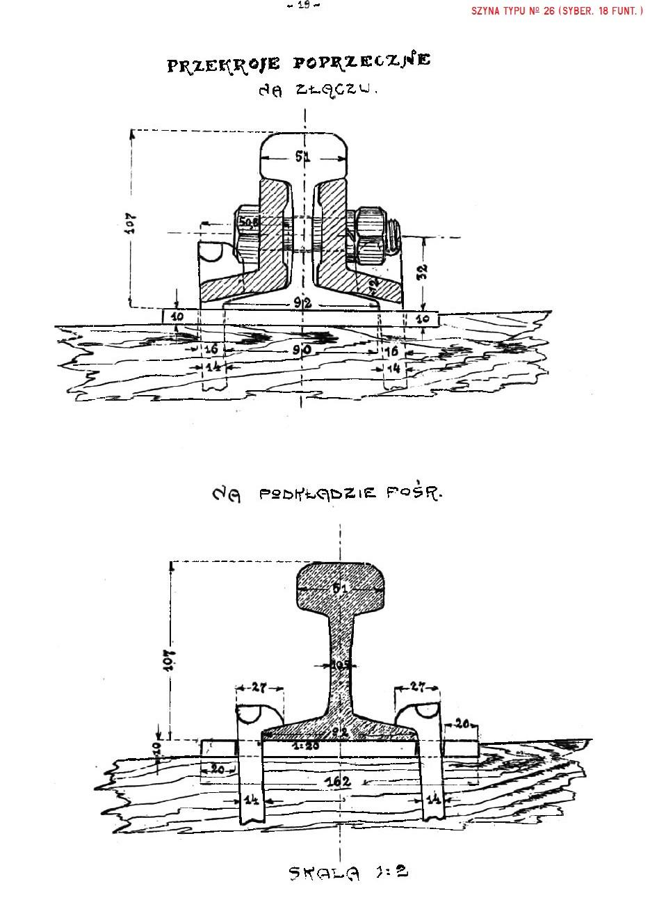 Album nawierzchni 1925. str. 19 - Szyna No 26 (syber. 18 funt.).jpg