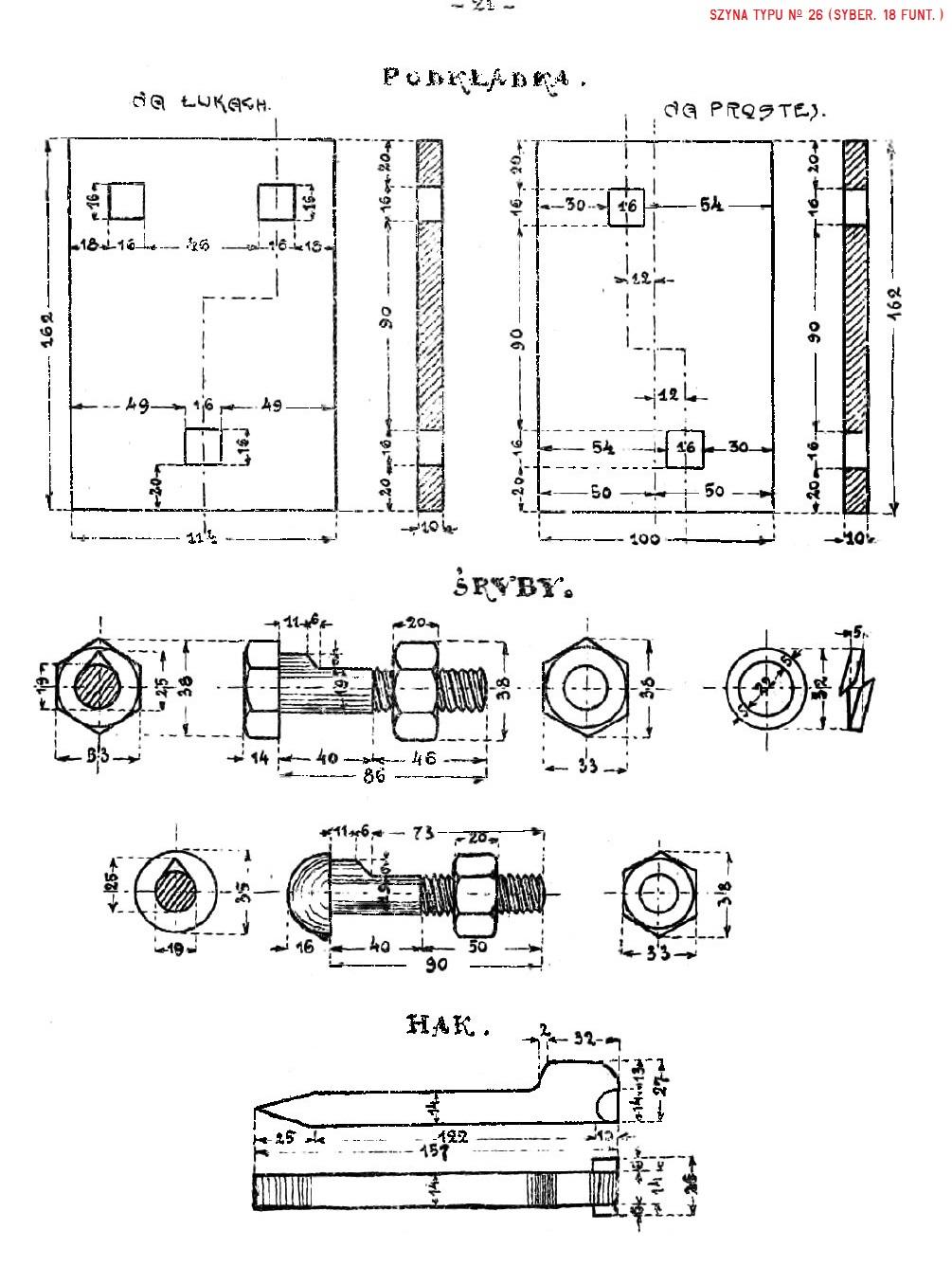 Album nawierzchni 1925. str. 21 - Szyna No 26 (syber. 18 funt.).jpg