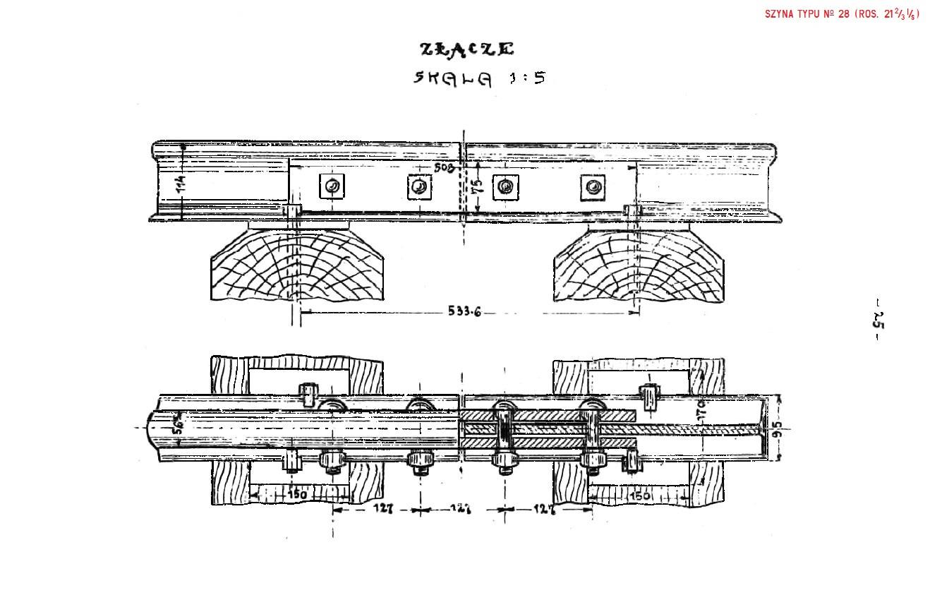 Album nawierzchni 1925. str. 25 - Szyna No 28 (ros. 21 2-3 I-s.).jpg