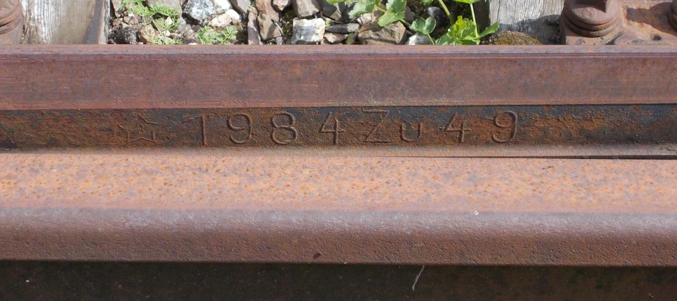 (B w gwieździe)1984 Zu49 - Pieniężno. Iglica rozjazdu nr 7..jpg