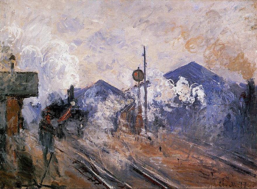claude monet - Les Voies à la sortie de la gare Saint-Lazare.png