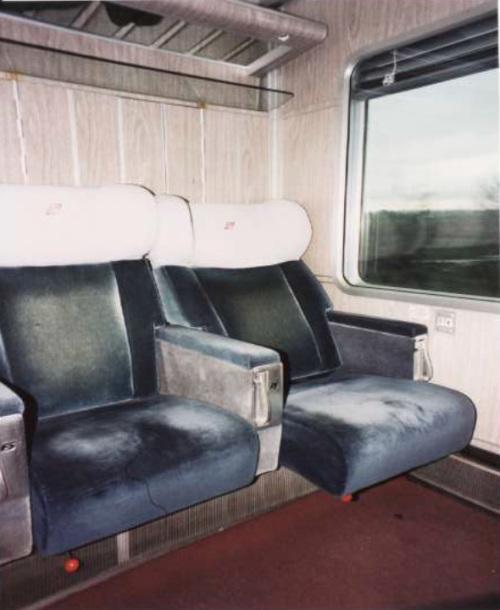 Estensione del sedile di una GC Bandiera a compartimenti. Foto tratta da una presentazione © ...jpg