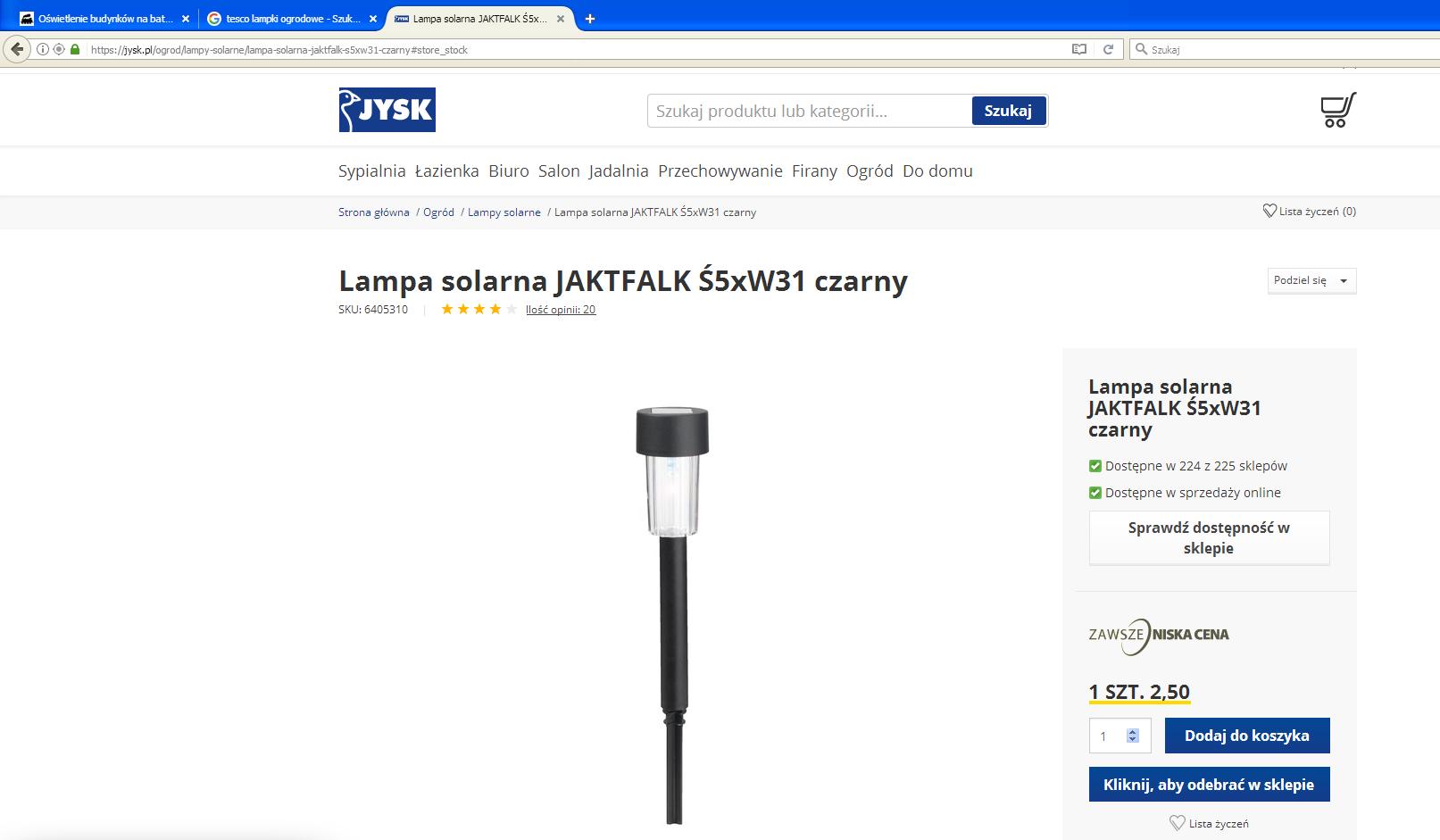 Lampa solarna JAKTFALK Ś5xW31 czarny .PNG
