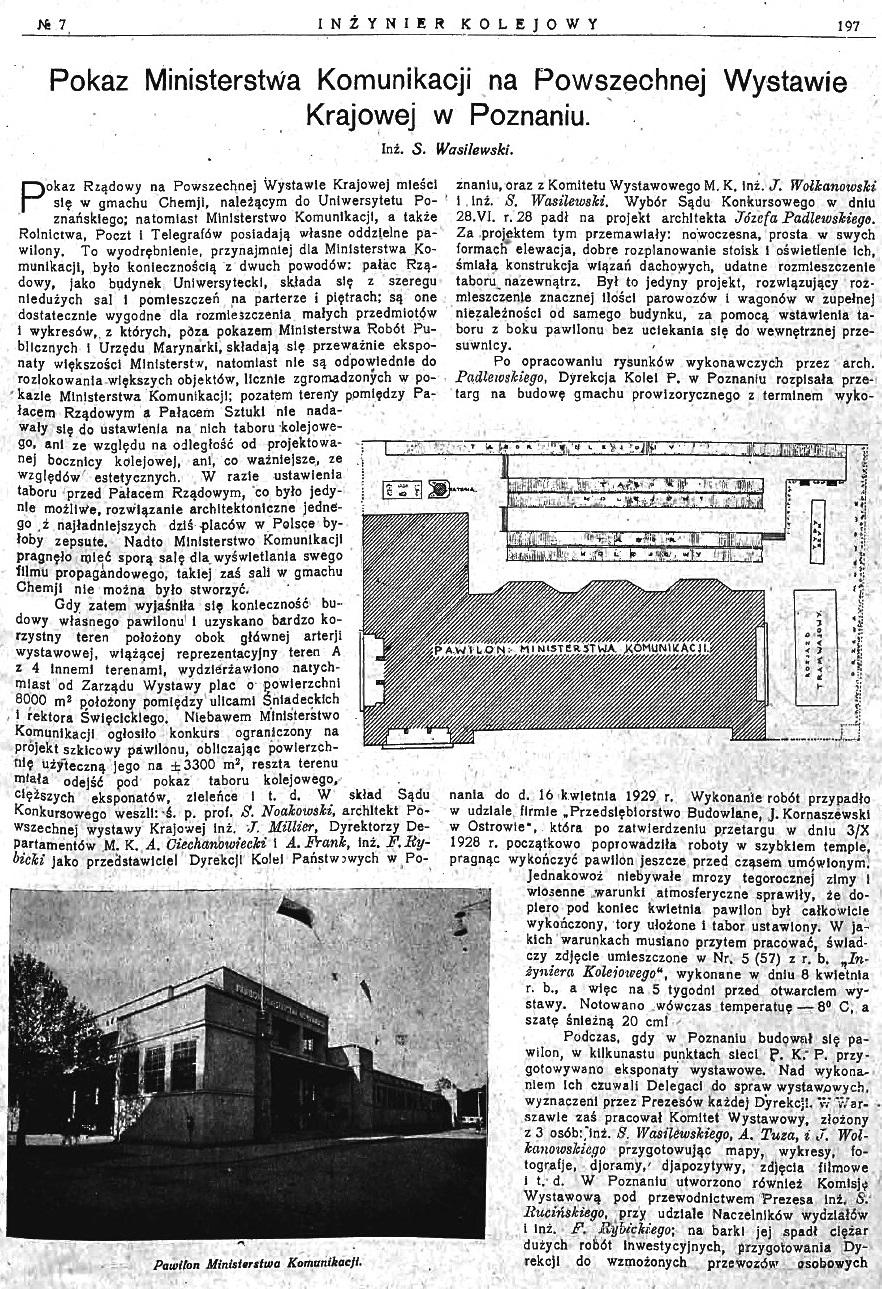 Powszechna Wystawa Krajowa w Poznaniu - Pokaz Ministerstwa Komunikacji (s. 197).jpg