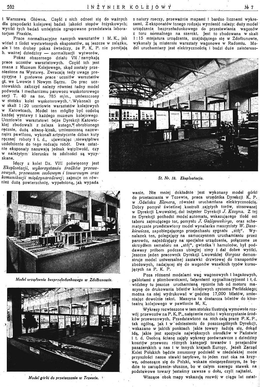Powszechna Wystawa Krajowa w Poznaniu - Pokaz Ministerstwa Komunikacji (s. 202).jpg