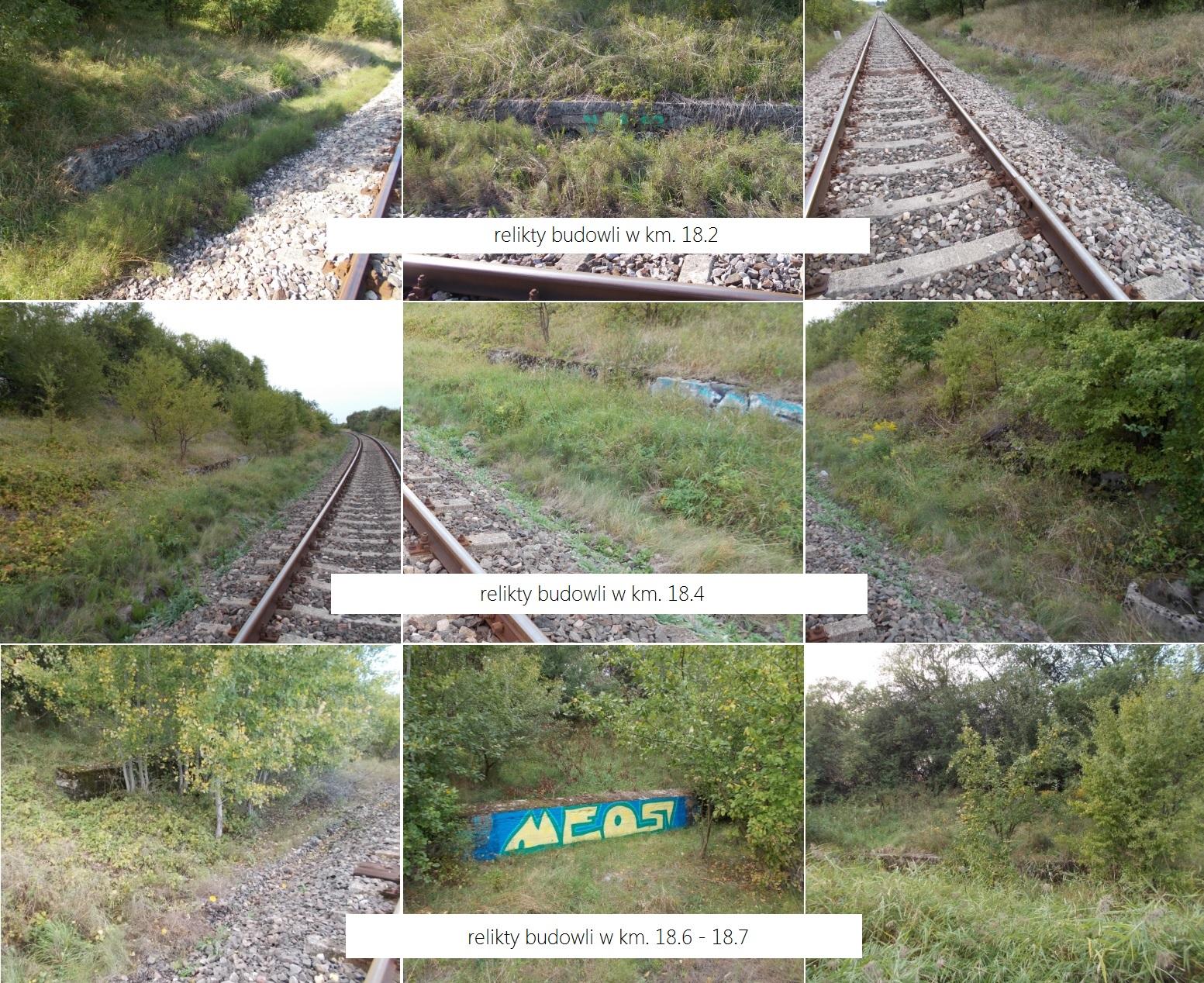 Relikty budowli w km. 18.2, 18.4, 18.6 - 18.7 odcinka Swobodna - Dobre Miasto.jpg