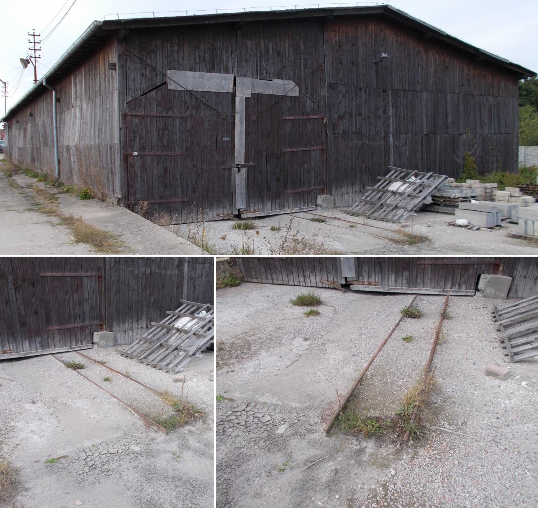 Relikty szyn wąskotorowych w Dobrym Mieście na terenie byłego Zakładu Drzewnego (1).jpg