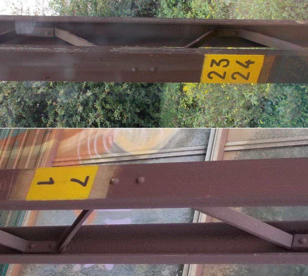 Słupy trakcyjne SKM, stalowe elementy KONIGSHUTTE.JPG