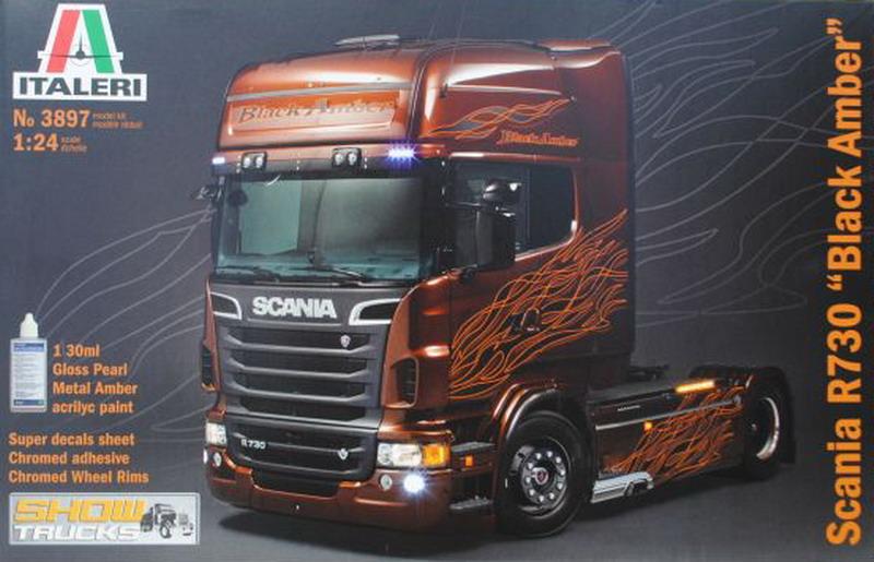 Scania R730 Black Amber Show Truck italeri 3897 voor.jpg