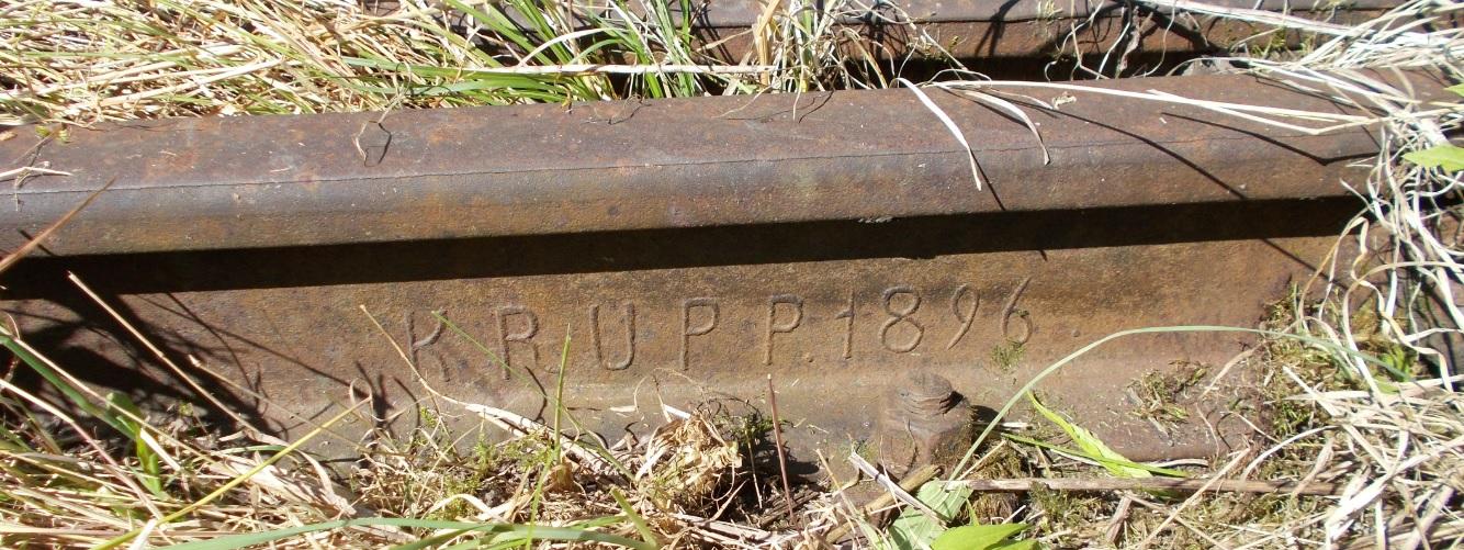 Stacja Dobre Miasto. Rozjazd nr 23. Iglica d, lewa. KRUPP. 1896.jpg
