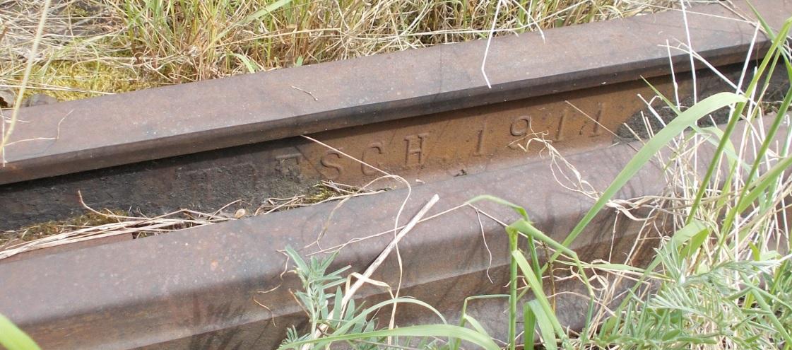 Stacja Dobre Miasto. Rozjazd nr 23. Tor zwrotny 23-24, prawa. HOESCH 1911.jpg