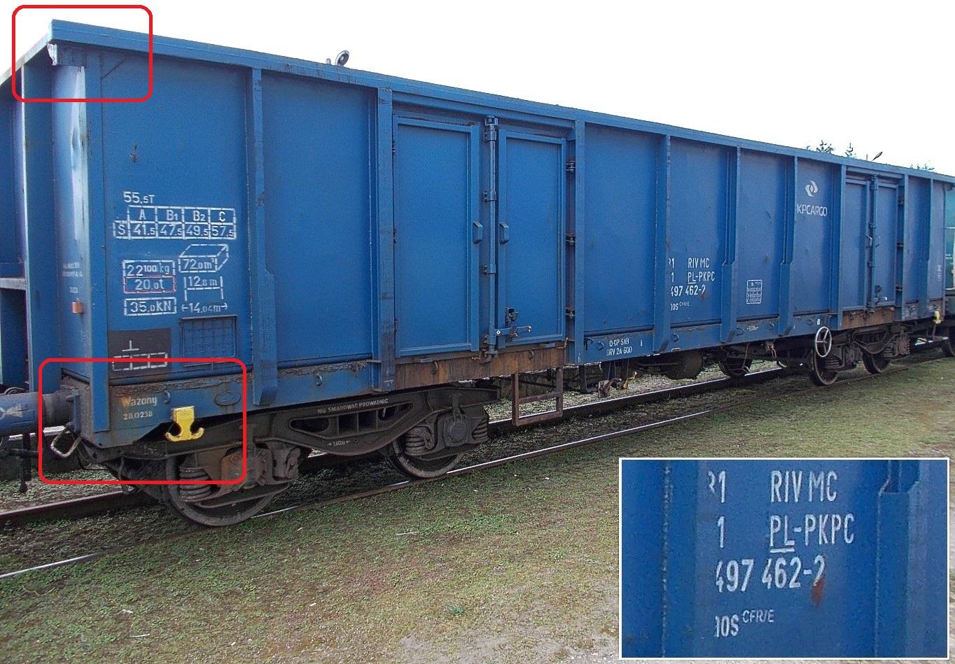 Stacja Dobre Miasto, węglarka typu CFR-E nr 31 51 5497 462-2 serii Eaos.jpg