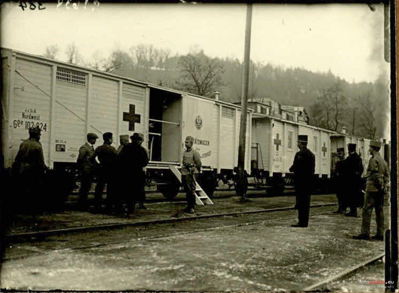 Stacja Stróże 1915.jpg