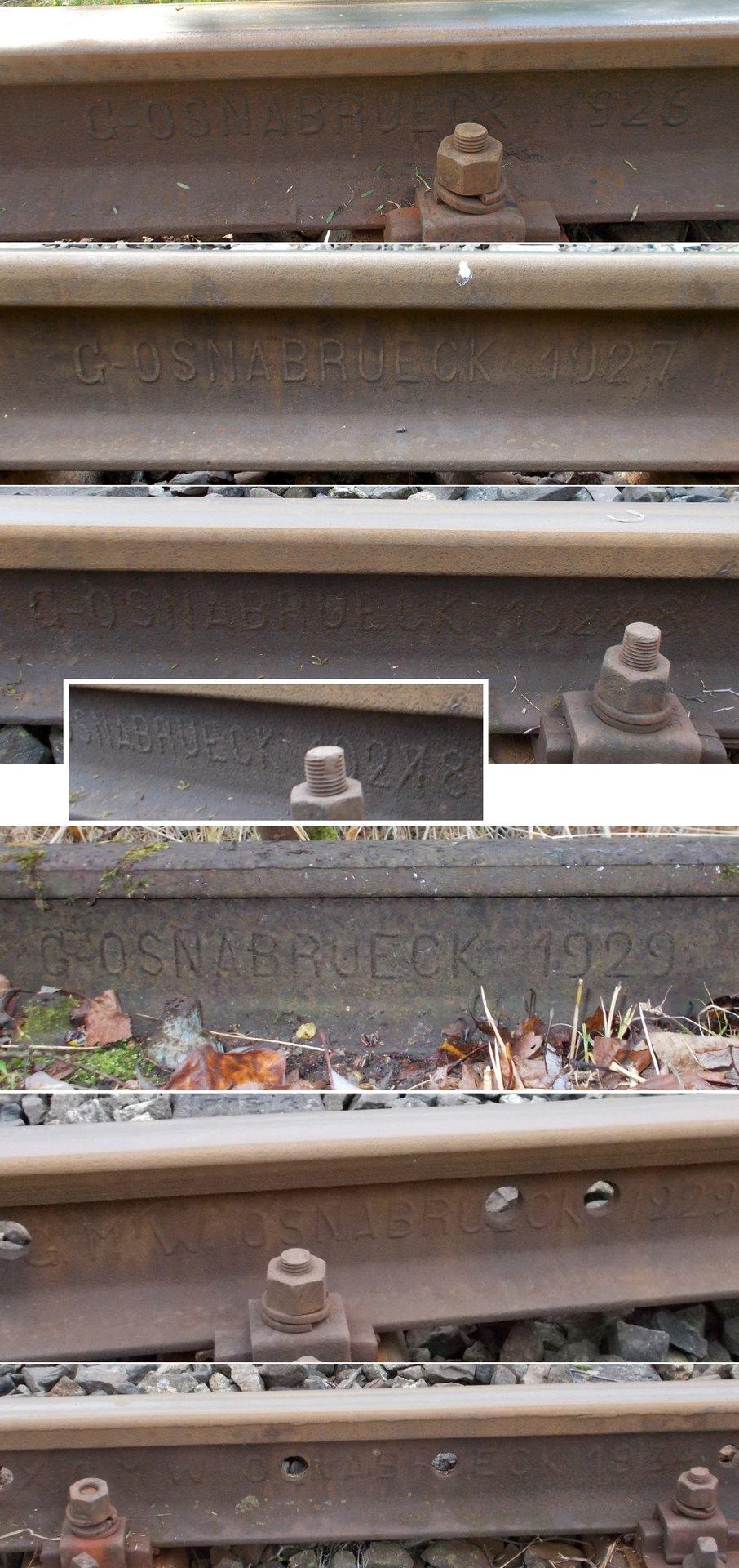 Szyny OSNABRUECK linii kolejowej nr 221.jpg