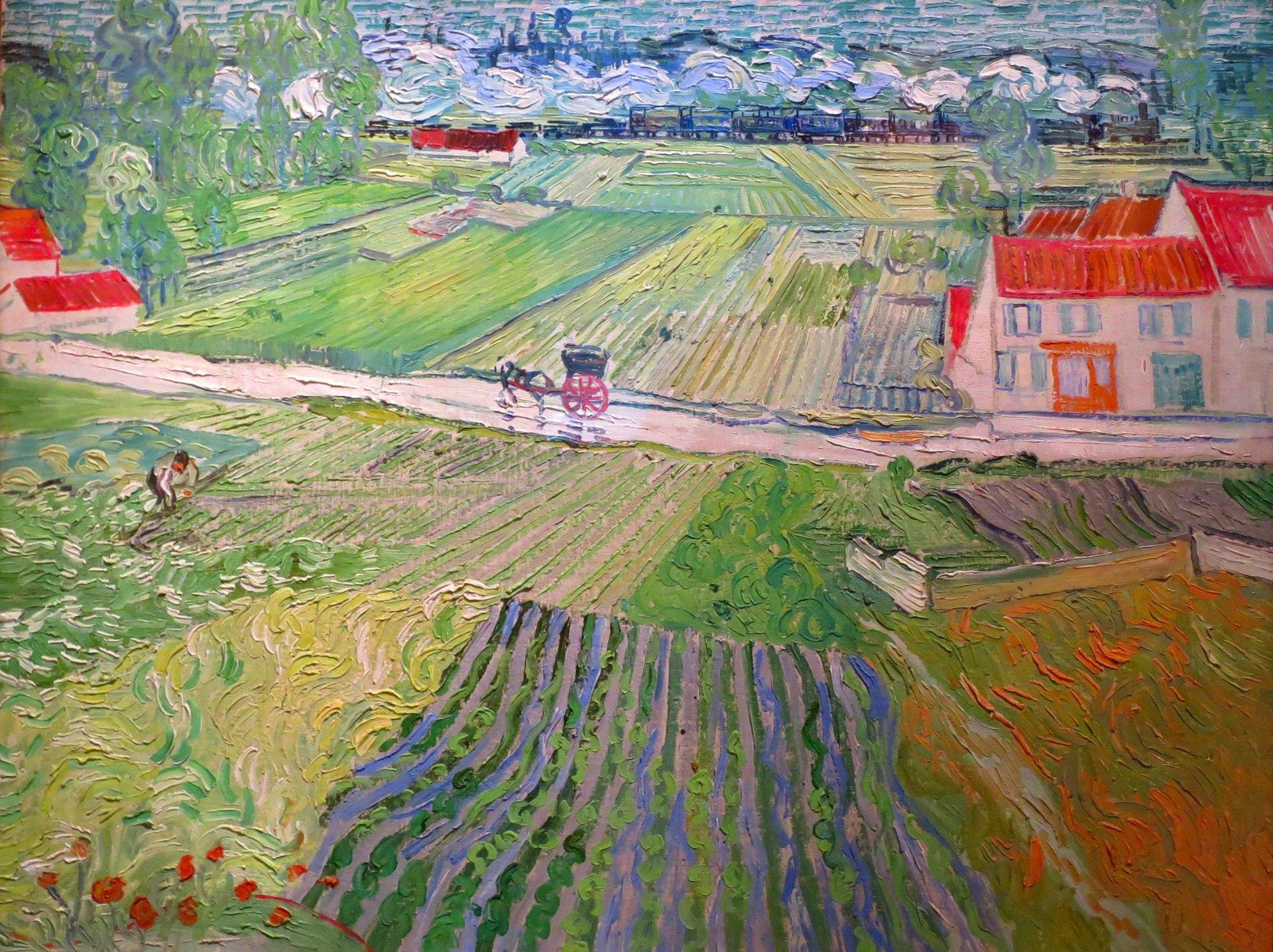 Vincent van Gogh 'Droga w Auvers po deszczu' 1890.jpg